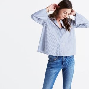NWT Madewell pinstripe button up blouse